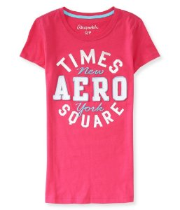 Camiseta Aéropostale Feminina Times Square NY - Pink