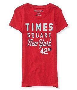 Camiseta Aéropostale Feminina Times Square Graphic - Fuschia