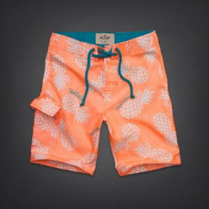 Bermuda Hollister Masculina Cabrillo Beach - Orange