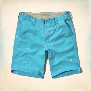 Bermuda Hollister Masculina Classic Fit - Turquoise