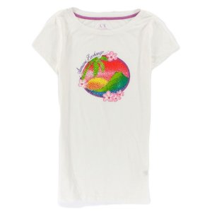 Camiseta Armani Exchange Feminina Beach Gems - White