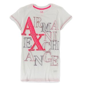 Camiseta Armani Exchange Feminina Clobberstones - Pink