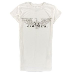 Camiseta Armani Exchange Feminina Shiny Eagle - White
