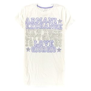 Camiseta Armani Exchange Feminina Love Giorgio - White