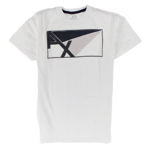 Camiseta Armani Exchange Masculina AX Angles - White