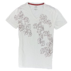 Camiseta Armani Exchange Masculina Cubes - Cream