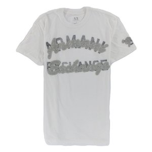 Camiseta Armani Exchange Masculina Patch - White