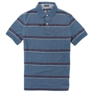 Polo Tommy Hilfiger Masculina Regular Fit Multi Stripe Piquet - Navy