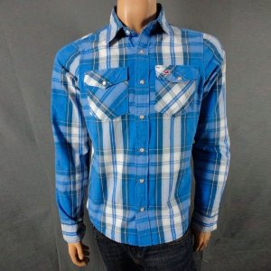 Camisa Hollister Masculina Warner Springs Shirt - Blue Plaid