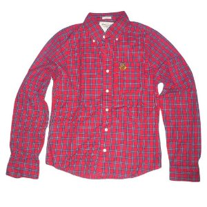 Camisa Abercrombie & Fitch Masculina Buell Mountain Shirt - Red Plaid