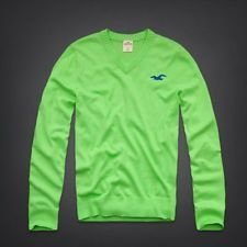 Sweater Hollister Masculino Pacific Coast V-Neck Sweater - LIme Green
