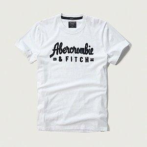 Camiseta Abercrombie & Fitch Masculina Applique Logo Tee - White