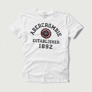 Camiseta Abercrombie & Fitch Masculina Est. 1982 Tee - White Ski Club