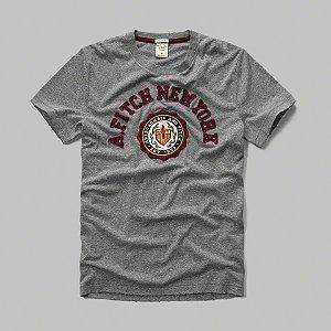Camiseta Abercrombie & Fitch Masculina Logo Crest Tee - Grey