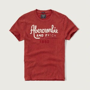 Camiseta Abercrombie & Fitch Masculina Fading Fitch - Red
