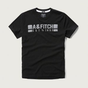 Camiseta Abercrombie & Fitch Masculina Est. 1892 Tee - Black