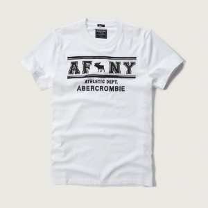 Camiseta Abercrombie & Fitch Masculina Athl. Dept - White