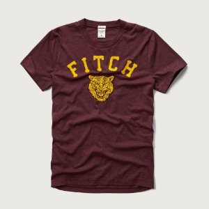 Camiseta Abercrombie & Fitch Masculina Tiger Tee - Burgundy