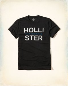 Camiseta Hollister Masculina Applique Calif - Navy