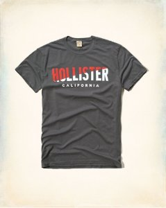 Camiseta Hollister Masculina Graphic Tee - Grey
