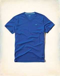 Camiseta Hollister Masculina Must-Have Crew Tee - Blue