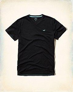 Camiseta Hollister Masculina Must-Have Crew Tee - Navy