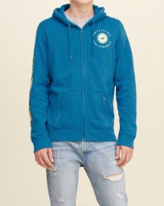 Casaco Hollister California Sleeves - Blue