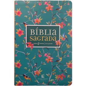BÍBLIA NVI LETRA GRANDE LEITURA PERFEITA - FLORAL
