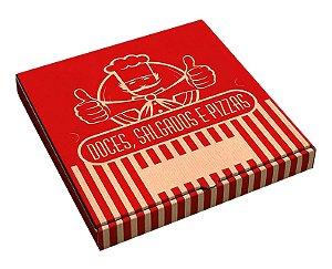 Caixa de papelão quadrada p/doce-salgado-pizza nr 25 - Pct c/50