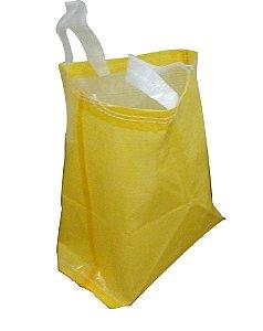 Sacola de Ráfia Laminada p/Mercado 60x50 cm Amarela, Branca ou Verde - Pct c/100