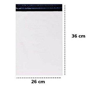 Envelope plástico segurança lacre 26x36 cm - Pct c/500