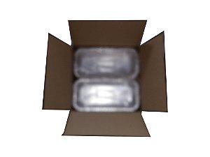 Bandeja alum retang p/bolo 95x200 600ml - Cx c/100