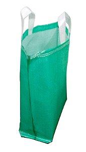 Sacola de ráfia laminada 50x50 cm cor verde, amarela ou branca - Pct c/100
