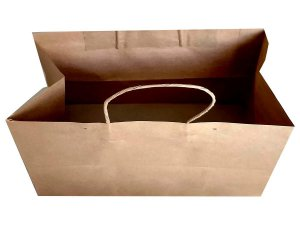 Sacolas de papel kraft 135 g 32x20x24cm - Pct c/100