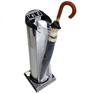 Saco plástico refil 14x74 cm p/embalador de guarda-chuva - Pct c/2.000