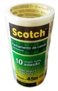 Fita Adesiva Transp Scotch 45mmx45m - Pct c/36