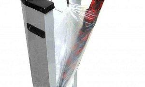 Saco plástico refil 14x74 cm p/embalador de guarda-chuva - Pct c/500