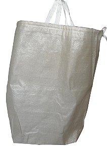 Sacos de Ráfia p/Lavanderia HB 1x0,70 m c/cadarço e alça - Pct c/10