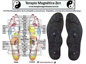 Palmilha Massageadora, ortopédica, magnética, aromatizada, Carvão ativo infravermelho longo.