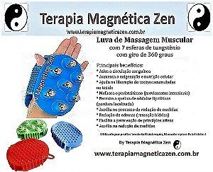 Luva Massageadora Com 7 Esferas Da Terapia Magnética Zen