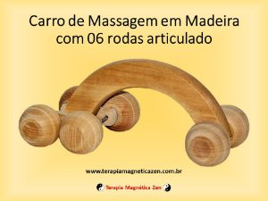 Massageador Corporal de Madeira articulado 6 bolas relaxantes