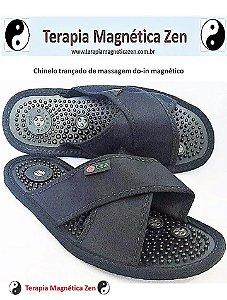 chinelo de massagem do-in magnético oriental Terumi