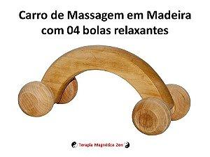 Massageador Carro Em Madeira com 4 Rodas da Terapia Magnética zen