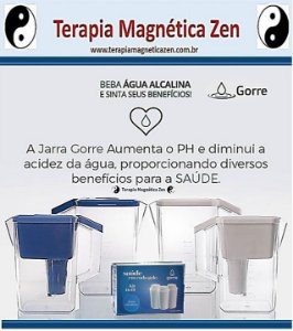 Jarra Gorre - Magnética & Photon. Filtra e Alcaliniza. Kit 2 (jarra filtro mais kit refil mais 1 jarra sobresalente)
