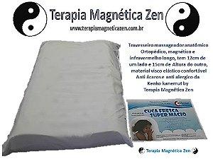 Travesseiro Magnético e Infravermelho longo, Anatomico, pillow Nasa Massagem Cuca Fresca Kenko Kanemut by Terapia Magnética Zen