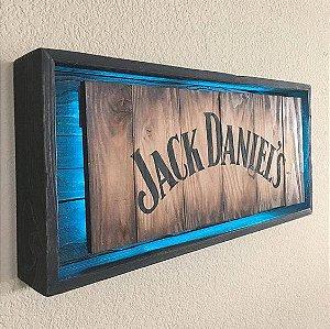 Quadro Jack Daniel's com Led Azul
