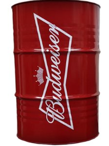 Tambor 200 Litros Aparador - Budweiser