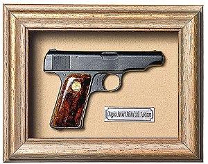 Quadro de Arma Resina Ortigies Pocket Pistol cal. 7,65mm - Clássico