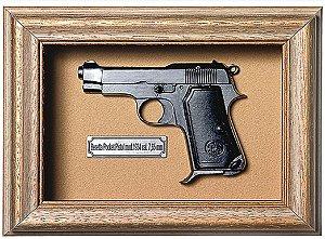 Quadro de Arma Resina Beretta Pocket Pistol mod. 1934 cal. 7,65 mm - Clássico