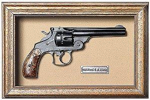Quadro de Arma Resina Smith & Wesson D.A. cal. .44 Russian - Clássico